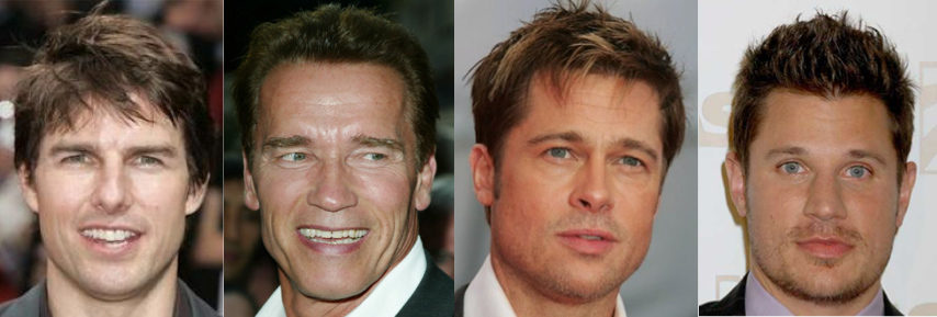 Celebrity Face Shapes And Hairstyles I Am Alpha M